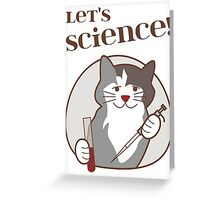Let's Science Scientist Cat Greeting Card