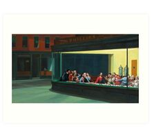 Nighthawks Last Supper Art Print
