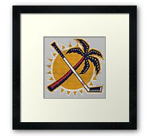 Tropical panther hockey Framed Print