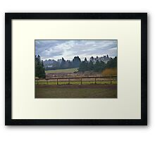 """""""meanwhile, back at the ranch"""" Framed Print"""