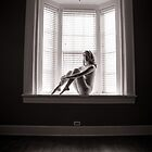 Nude Sitting in Bay Window 1 by Terry Walker