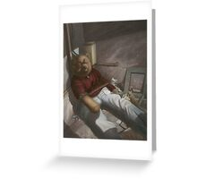 Drug Addict Teddy Greeting Card