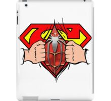 Superman becomes Spiderman iPad Case/Skin