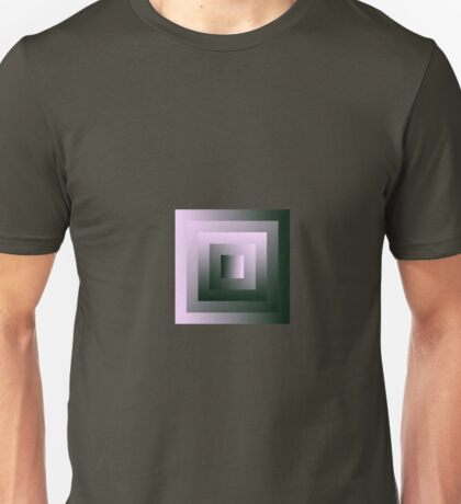 The Half-Sized Pink & Green Square Swirl Unisex T-Shirt