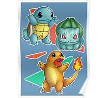 Retro Pokemon Poster Poster