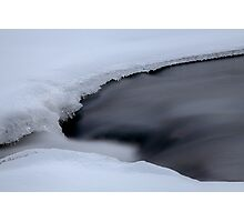 Winter Ice Stream Photographic Print