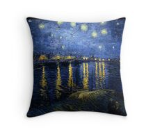 Starry Night Over the Rhone - Van Gogh Throw Pillow