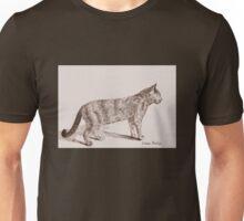 Retro Cat Sketch (Old Nostalgic Book Style) Unisex T-Shirt