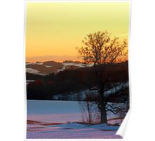 Colorful winter wonderland sundown V | landscape photography Poster