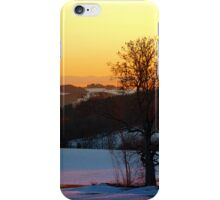 Colorful winter wonderland sundown V | landscape photography iPhone Case/Skin