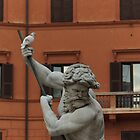Neptune and the Dove - Fountain of Neptune, Piazza Navona, Rome, Italy by Georgia Mizuleva