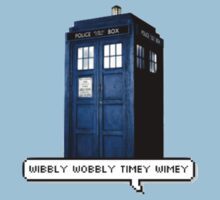 Wibbly Wobbly Timey Wimey Tardis One Piece - Short Sleeve
