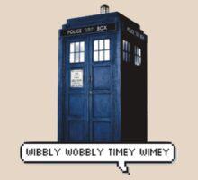 Wibbly Wobbly Timey Wimey Tardis by Glittery Toast
