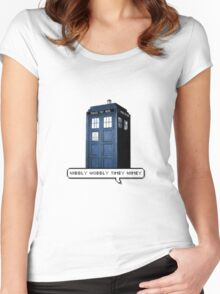 Wibbly Wobbly Timey Wimey Tardis Women's Fitted Scoop T-Shirt