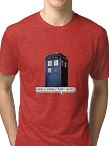 Wibbly Wobbly Timey Wimey Tardis Tri-blend T-Shirt