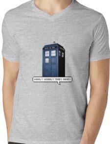 Wibbly Wobbly Timey Wimey Tardis Mens V-Neck T-Shirt