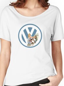 Volkswagen Pin-Up Damsel in Distress (blue) Women's Relaxed Fit T-Shirt