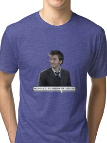 David Tennant - Doctor Who  Tri-blend T-Shirt