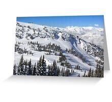 Whistler Ski Slopes Greeting Card