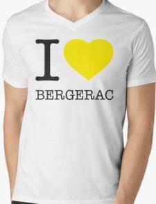 I ♥ BERGERAC Mens V-Neck T-Shirt