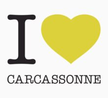 I ♥ CARCASSONNE One Piece - Short Sleeve