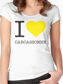 I ♥ CARCASSONNE Women's Fitted Scoop T-Shirt