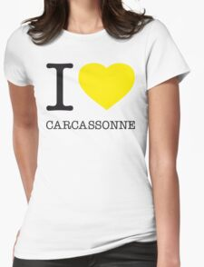 I ♥ CARCASSONNE Womens Fitted T-Shirt