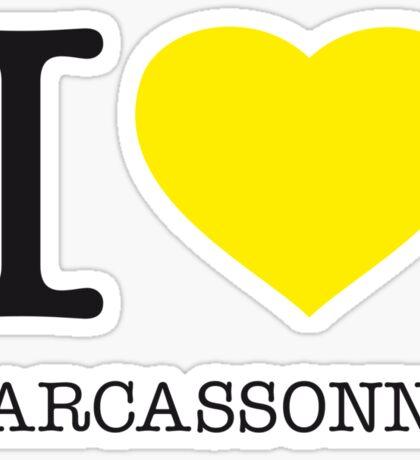 I ♥ CARCASSONNE Sticker