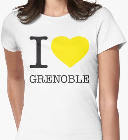 I ♥ GRENOBLE Womens Fitted T-Shirt