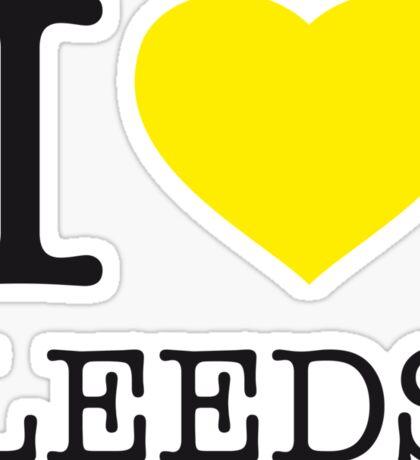 I ♥ LEEDS Sticker