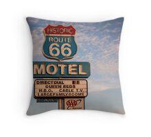 66 Motel Throw Pillow