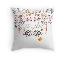 Floral Assembly Throw Pillow