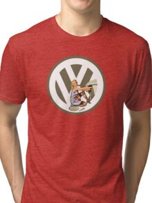 Volkswagen Pin-Up Damsel in Distress (taupe) Tri-blend T-Shirt