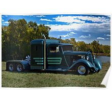 1933 Plymouth Semi Truck Poster