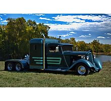 1933 Plymouth Semi Truck Photographic Print