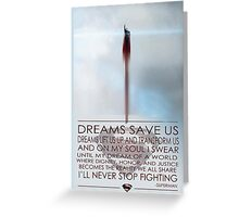 Superman Inspirational Poster Greeting Card