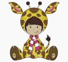 Cute Cartoon Giraffe Girl Pattern Kids Clothes