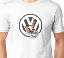 Volkswagen Pin-Up Chatty Cathy (gray) Unisex T-Shirt