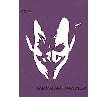 Joker Face Photographic Print