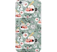 pattern with cats and mushrooms iPhone Case/Skin