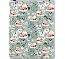 pattern with cats and mushrooms iPad Case/Skin