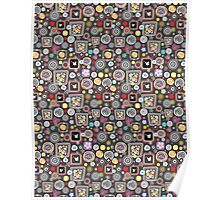 bright abstract pattern Poster