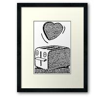 Toaster Valentine  Framed Print