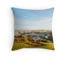 Port Isaac from Lobber Point Throw Pillow