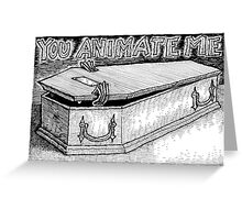 Coffin Valentine Greeting Card
