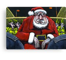 Festive scrape for Santa Canvas Print