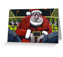 Festive scrape for Santa Greeting Card