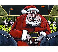 Festive scrape for Santa Photographic Print