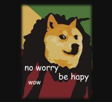 Bob Marley Doge (Transparent Edges) by LIKE