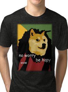 Bob Marley Doge (Transparent Edges) Tri-blend T-Shirt